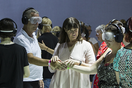 Heather Lawson and audience members, Imagined Touch, Sydney Festival 2017