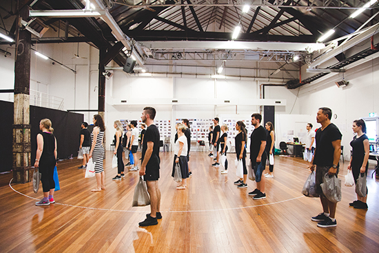 Chimerica in rehearsal, Sydney Theatre Company