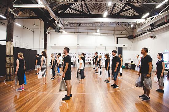 Chimerica in rehearsal, Sydney Theatre Company