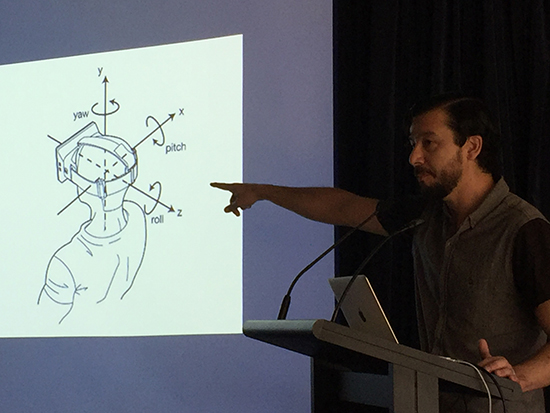 Oscar Raby, AIDC/ Film Victoria VR Workshop, 'Making Virtual a Practical Reality', which ran in conjunction with AIDC 2017's VR Plus Day program.