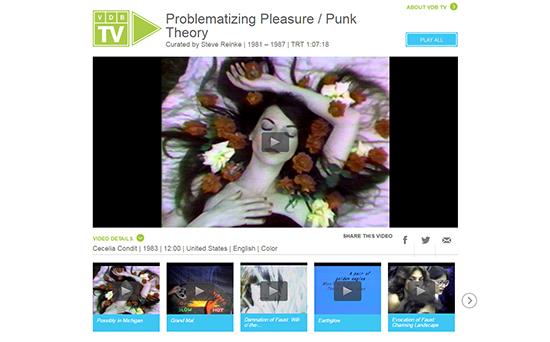 Problematizing Pleasure/Punk Theory, VDB TV